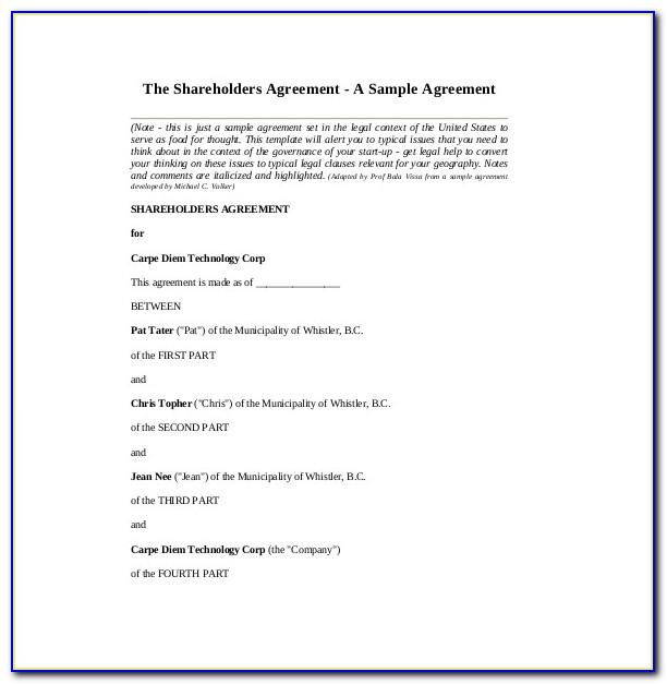 Template Settlement Agreement Uk
