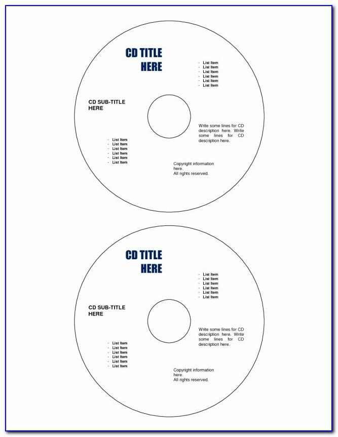 Templates For Cd Labels