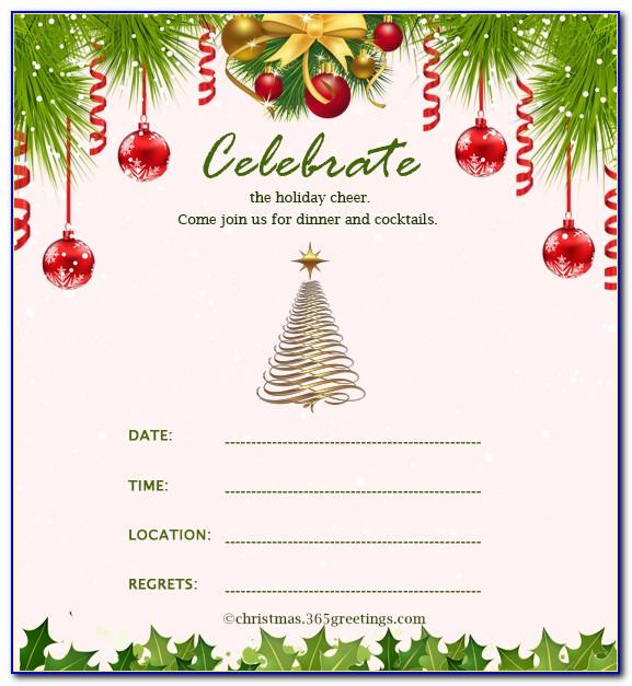 Templates For Christmas Invitation