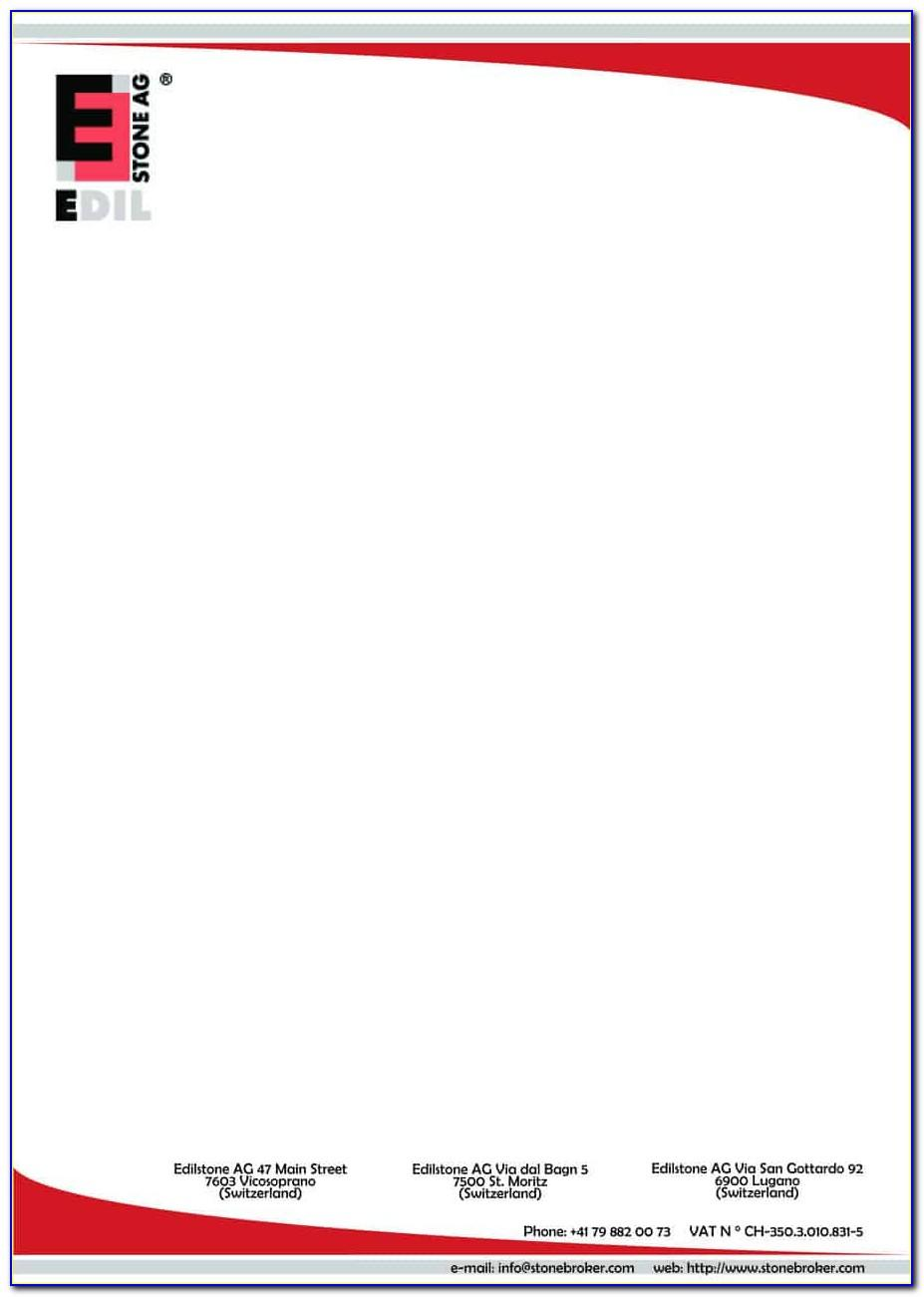 Templates For Company Letterhead