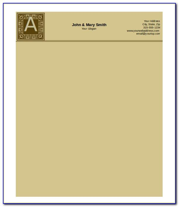 Templates For Letterheads Microsoft Word