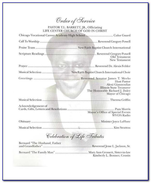 Templates For Obituary Programs