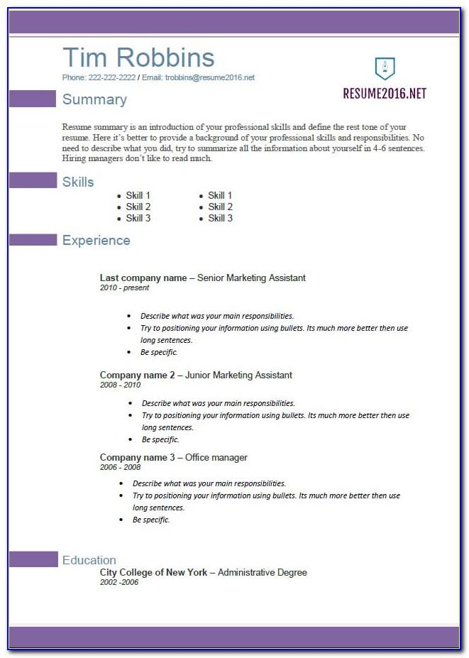 Templates For Resumes 2014