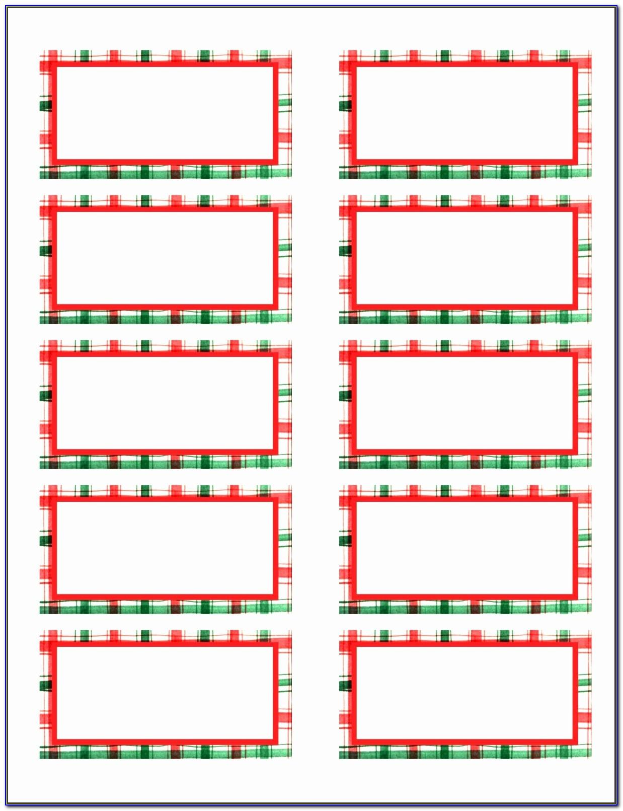 Templates For Return Address Labels Christmas