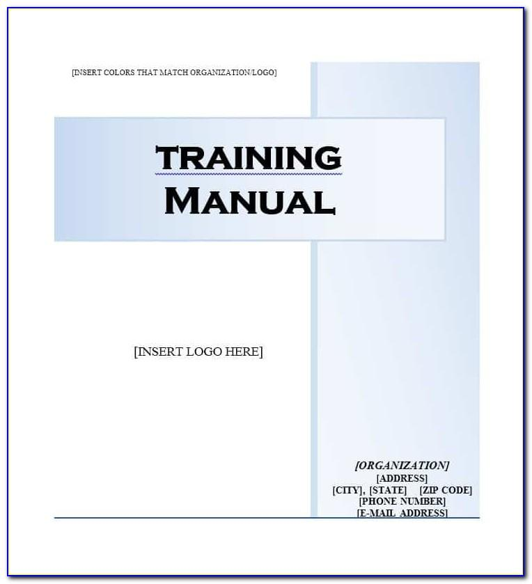 Templates For Training Manuals