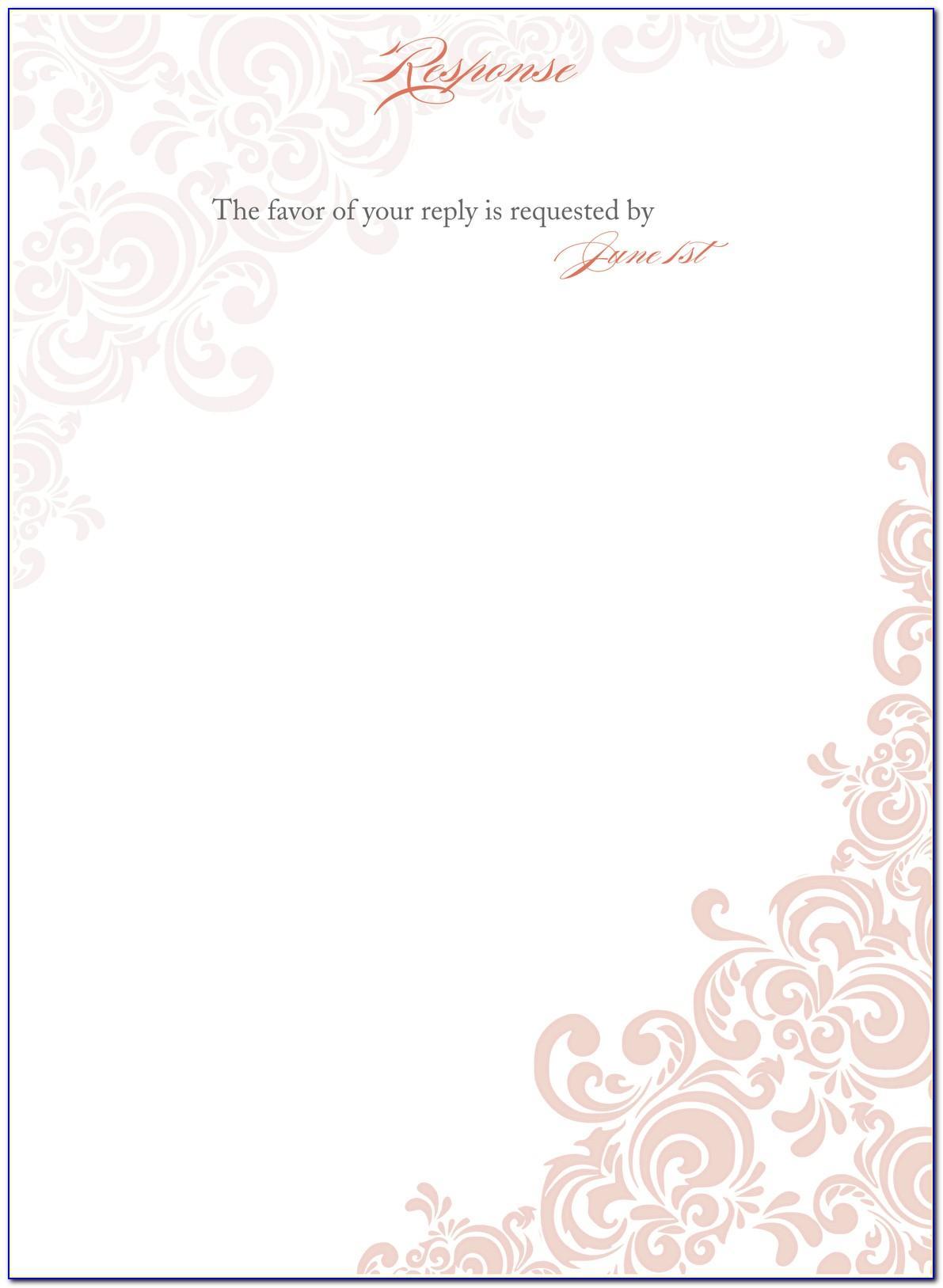Templates For Wedding Invitation Vector