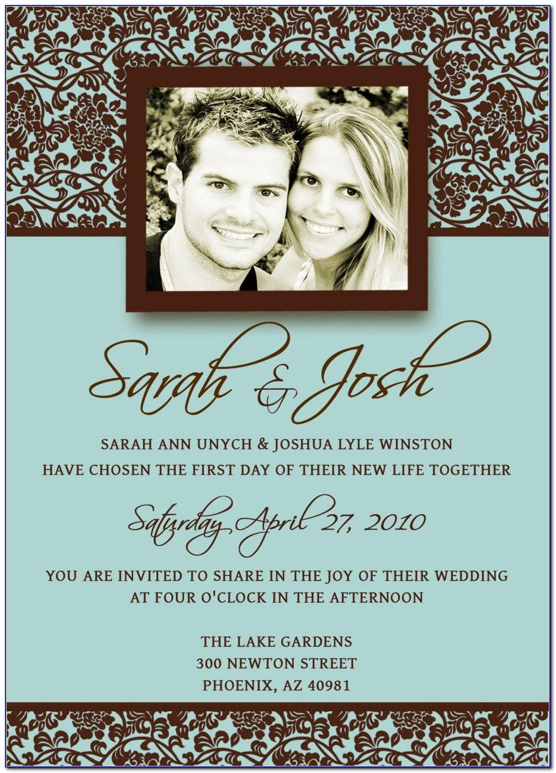 Templates For Wedding Invitation Wording