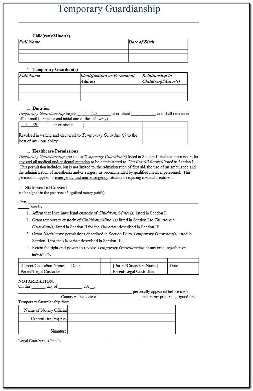 Temporary Custody Letter Template
