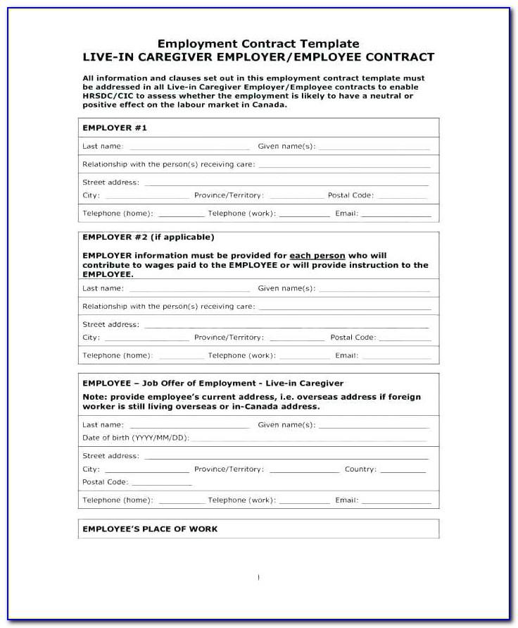Temporary Employment Contract Sample Ontario
