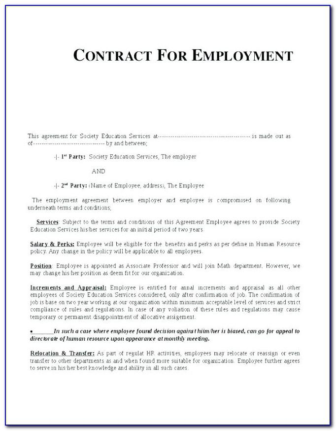 Temporary Employment Contract Template Kenya
