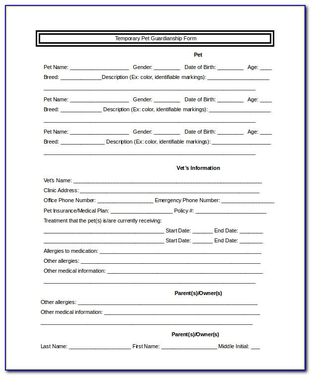 Temporary Guardianship Letter For Grandparents Template