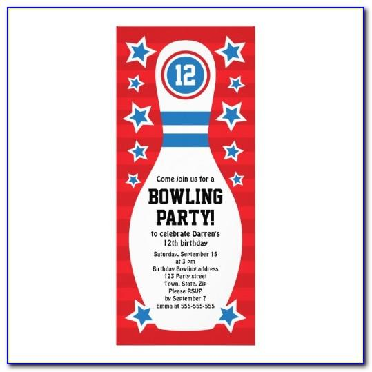 Ten Pin Bowling Birthday Invitation Templates