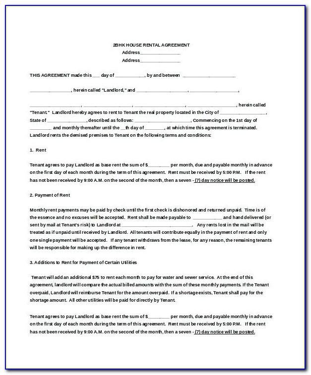 Tenancy Agreement Malaysia Template Word