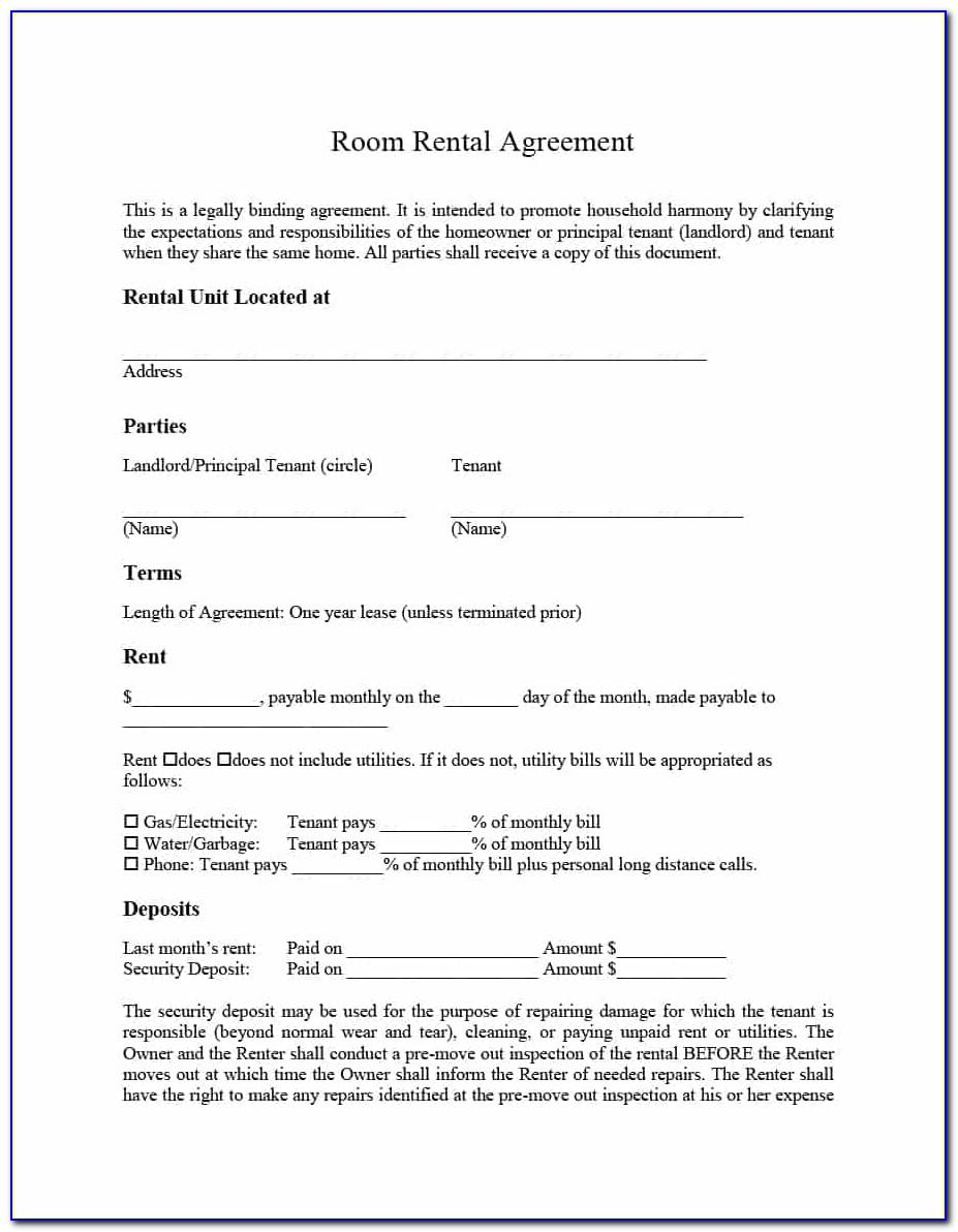 Tenancy Agreement Sample Word Document Uk