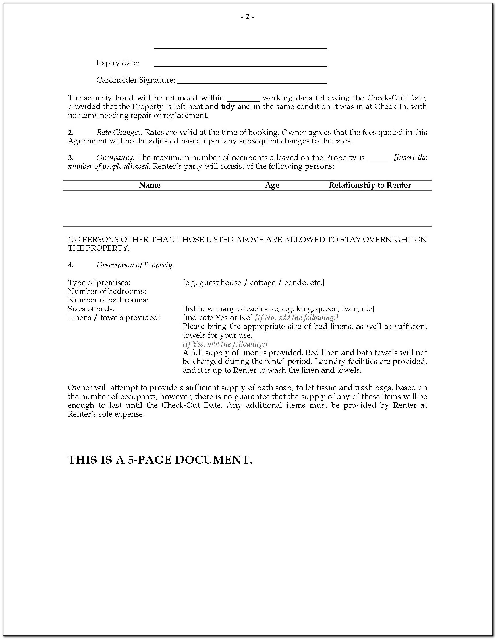 Tenancy Agreement Template Free Download Pdf Uk