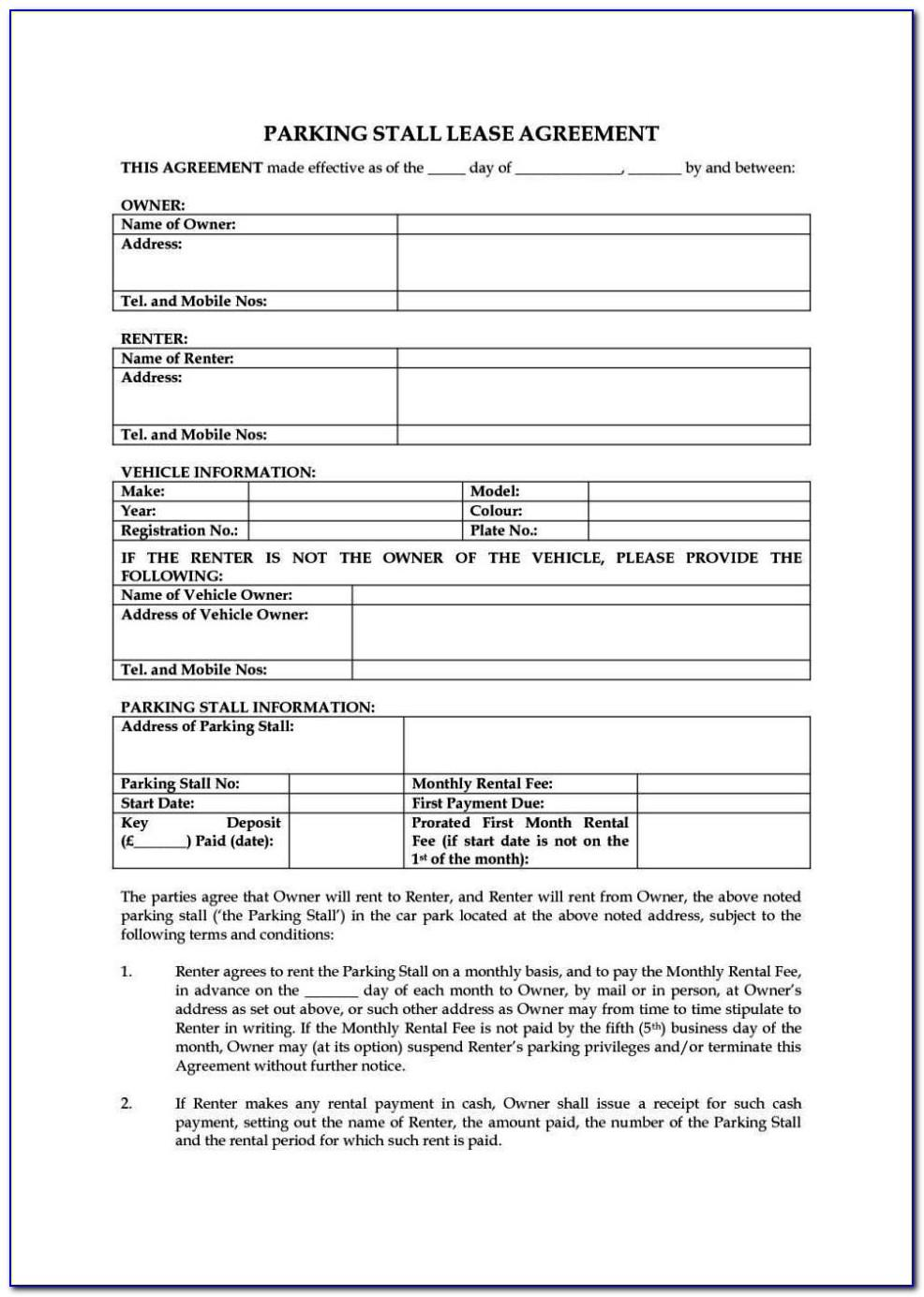 Tenancy Agreement Template Free Uk
