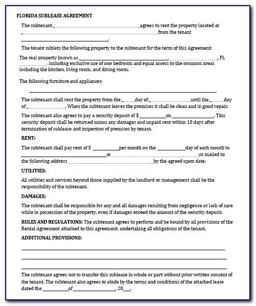 Tenancy Agreement Template Ireland