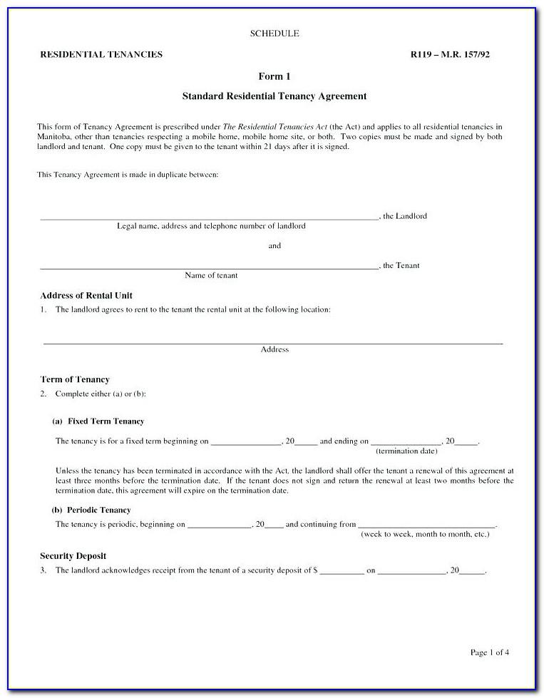 Tenancy Agreement Template Uk Word