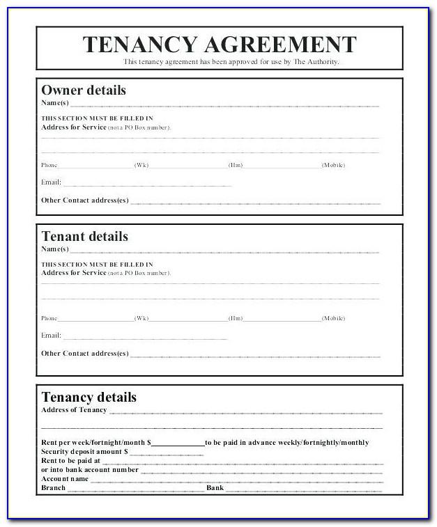 Tenancy Agreement Template Word 2018
