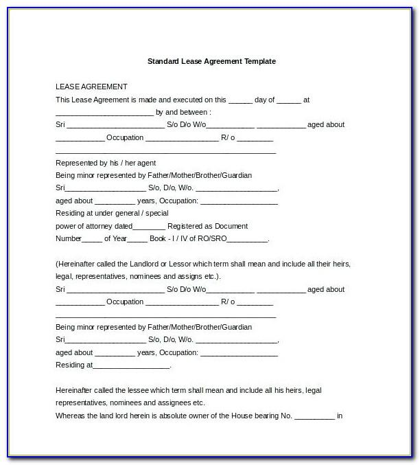 Tenancy Agreement Template Word Free