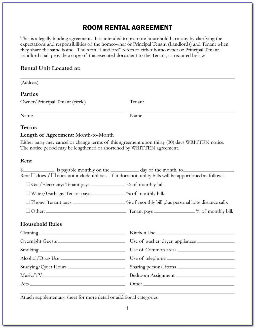 Tenancy Application Form Template Nsw