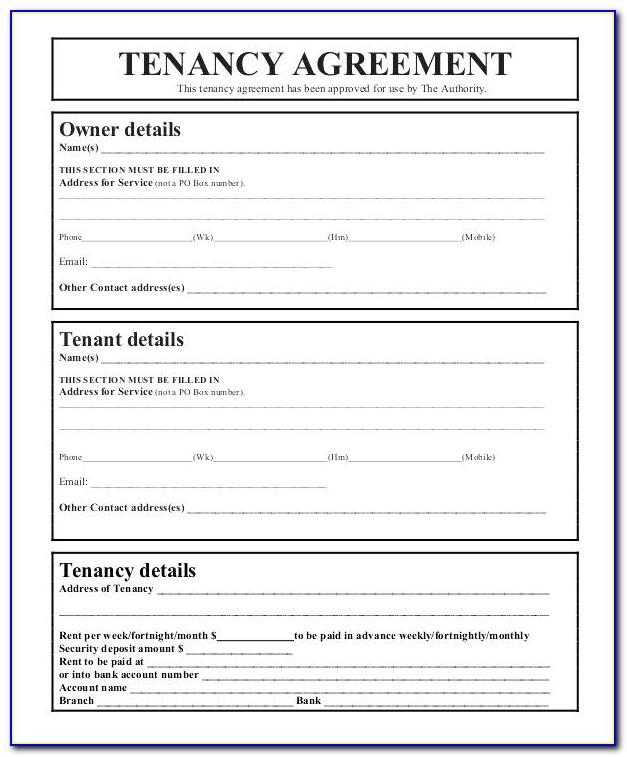Tenancy Contract Template Uae