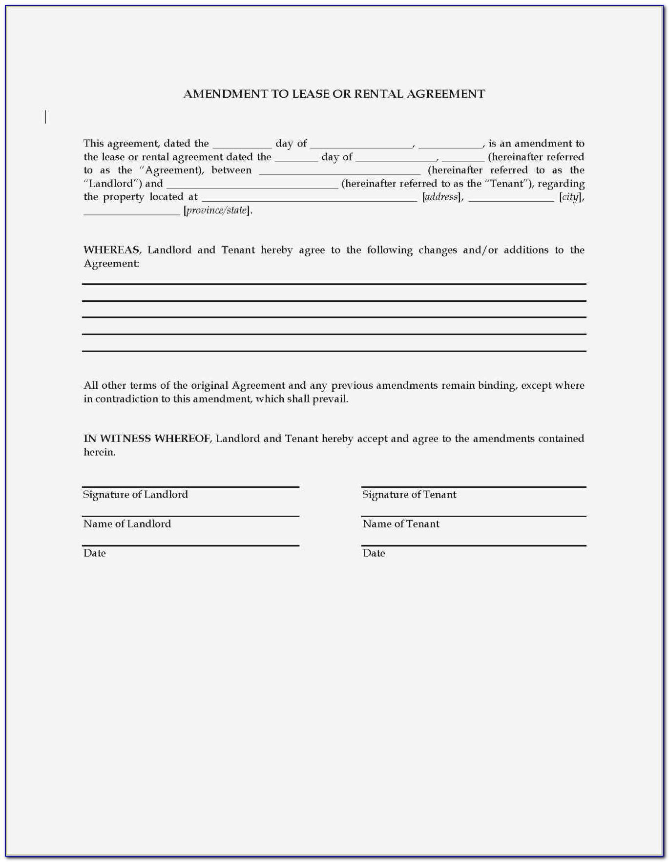 Tenancy Contract Template Word