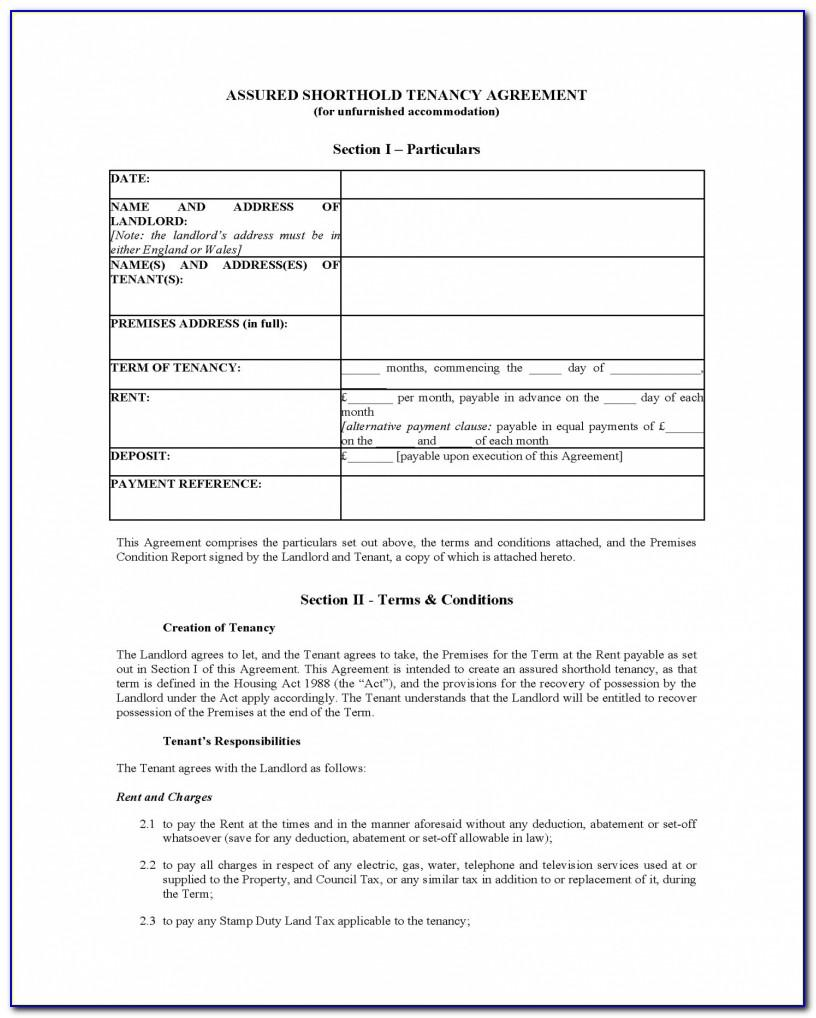 Tenancy In Common Agreement Template Uk