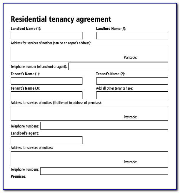 Tenant Agreement Form Uk Pdf