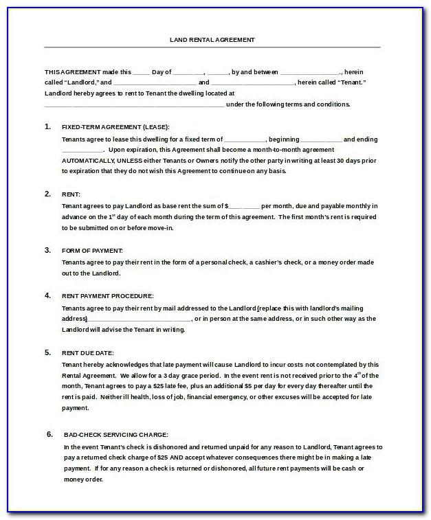 Tenant Agreement Template South Africa