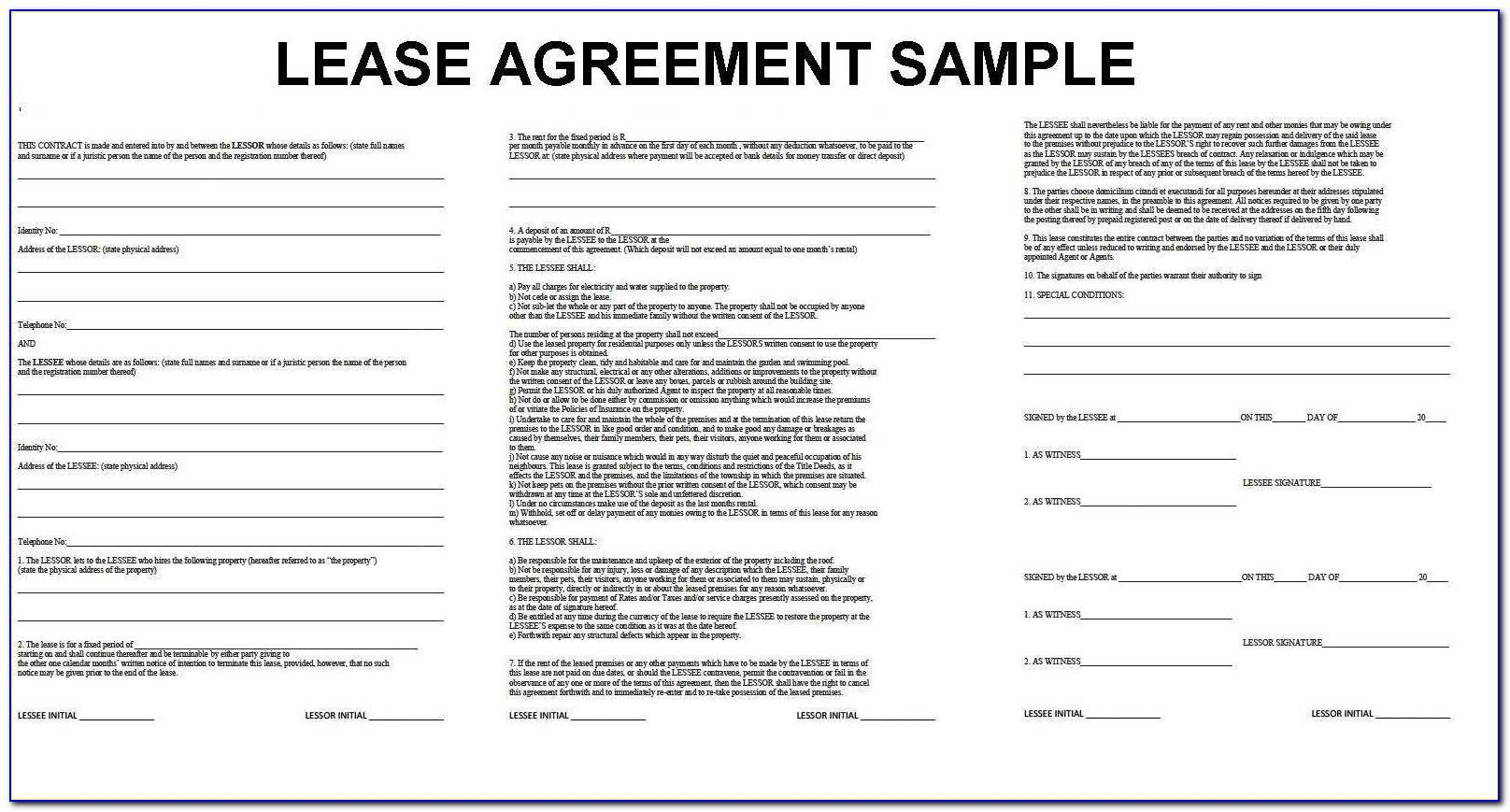 Tenant Contract Template Word