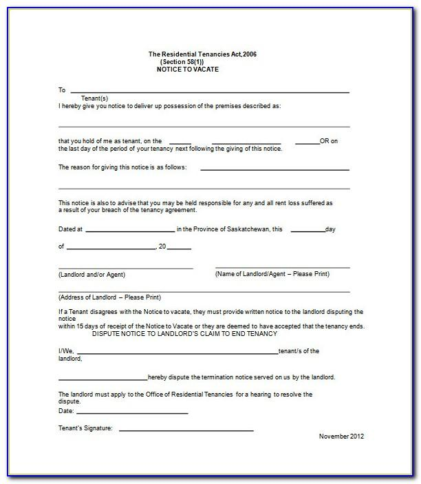 Tenant Eviction Notice Form Ontario