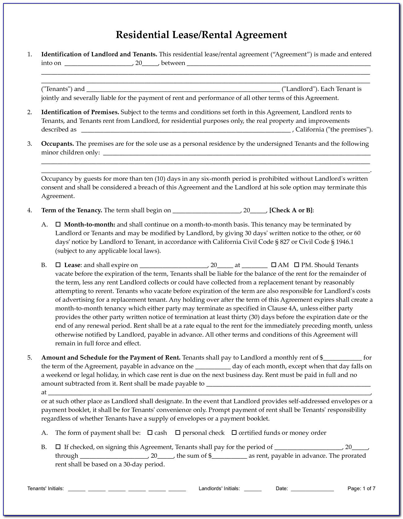 Tenant Landlord Contract Templates