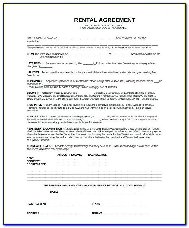 Tenant Lease Agreement Template California
