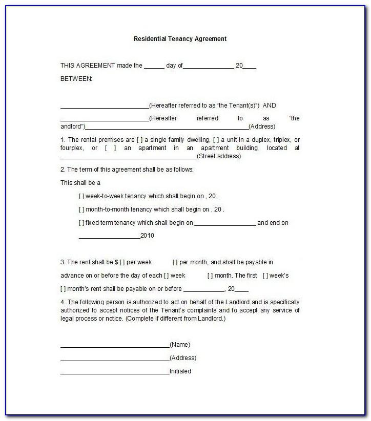 Tenant Lease Agreement Template South Africa
