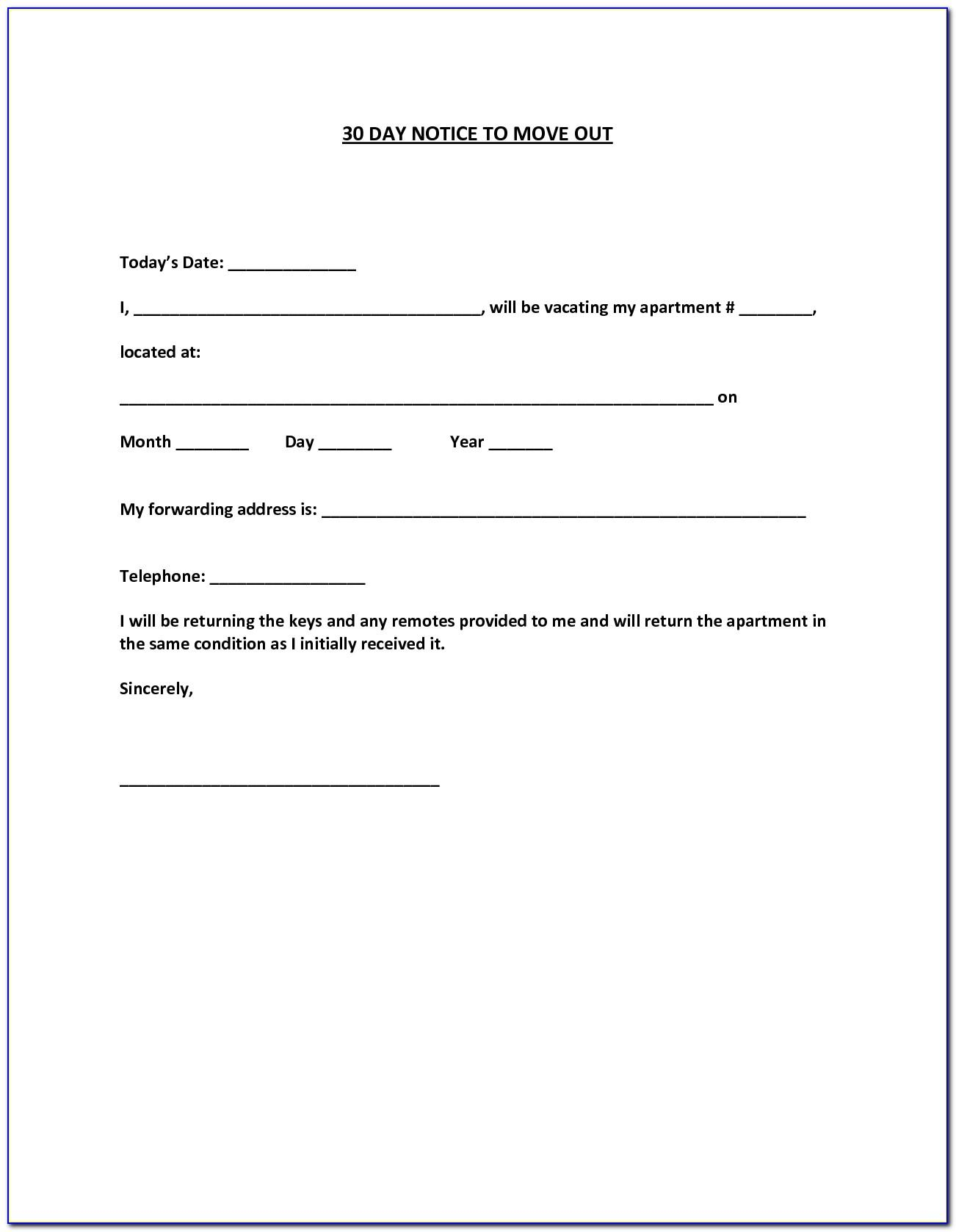 Tenant Move Out Letter Template