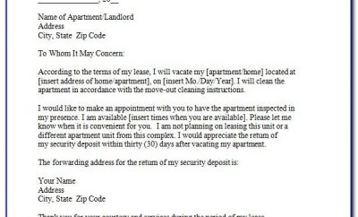 Tenant Move Out Notice Template