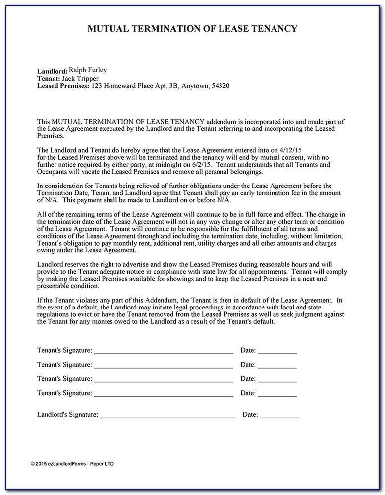 Termination Of Rental Agreement California Form
