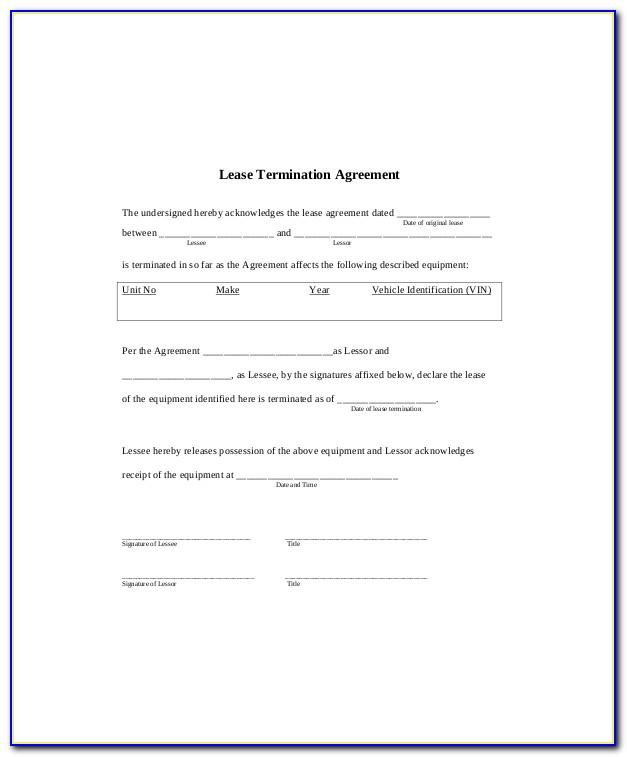 Termination Of Tenancy Agreement Example