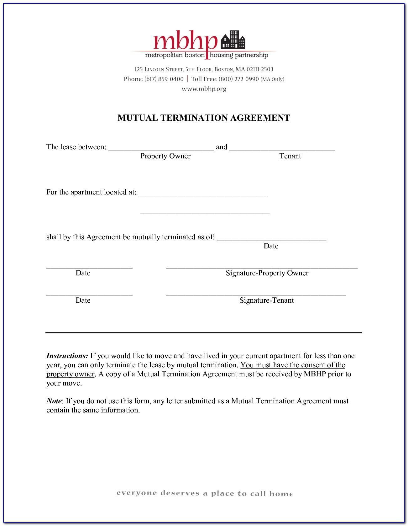 Termination Of Tenancy Agreement Format