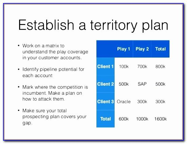 Territory Sales Plan Example