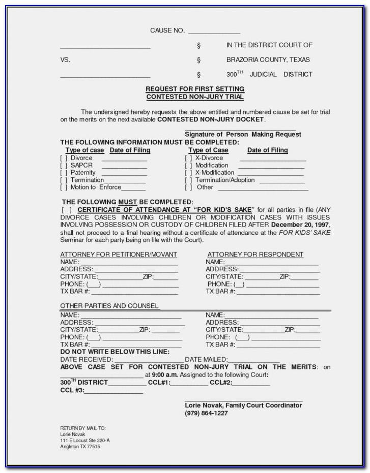 Texas Divorce Decree Template Free