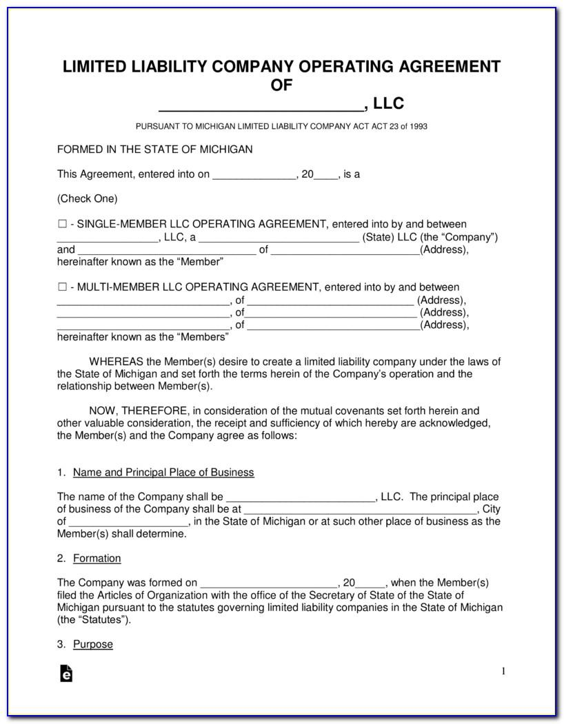 Texas Series Llc Operating Agreement Form