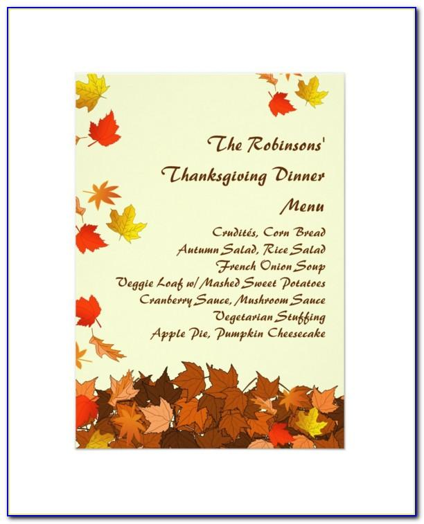 Thanksgiving Dinner Invite Templates