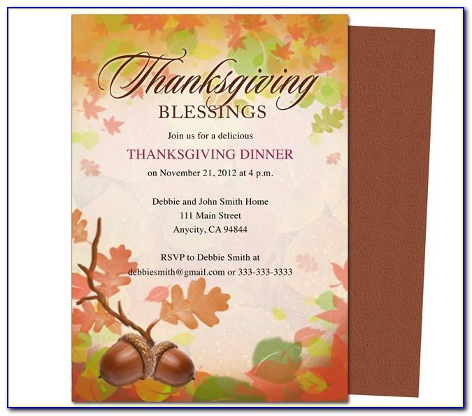 Thanksgiving Flyer Template Free Microsoft
