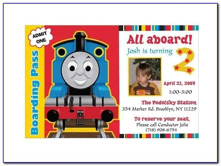 Thomas And Friends Birthday Invitation Templates