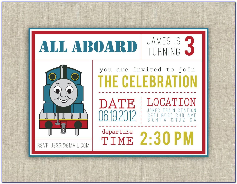 Thomas The Tank Engine Invitation Template