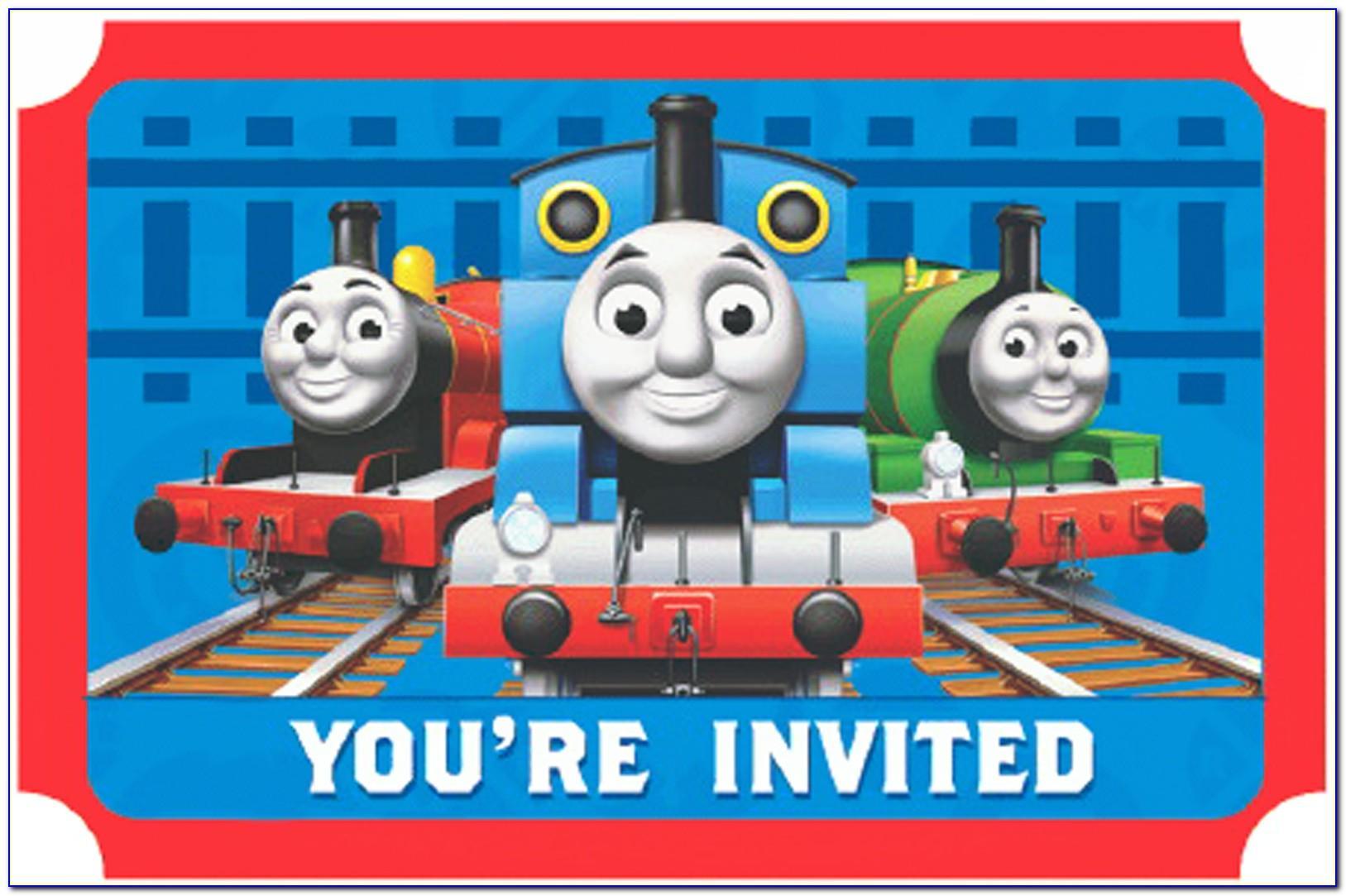 Thomas The Train Birthday Invitations Template