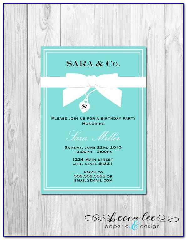 Tiffany And Co Invitation Template Free