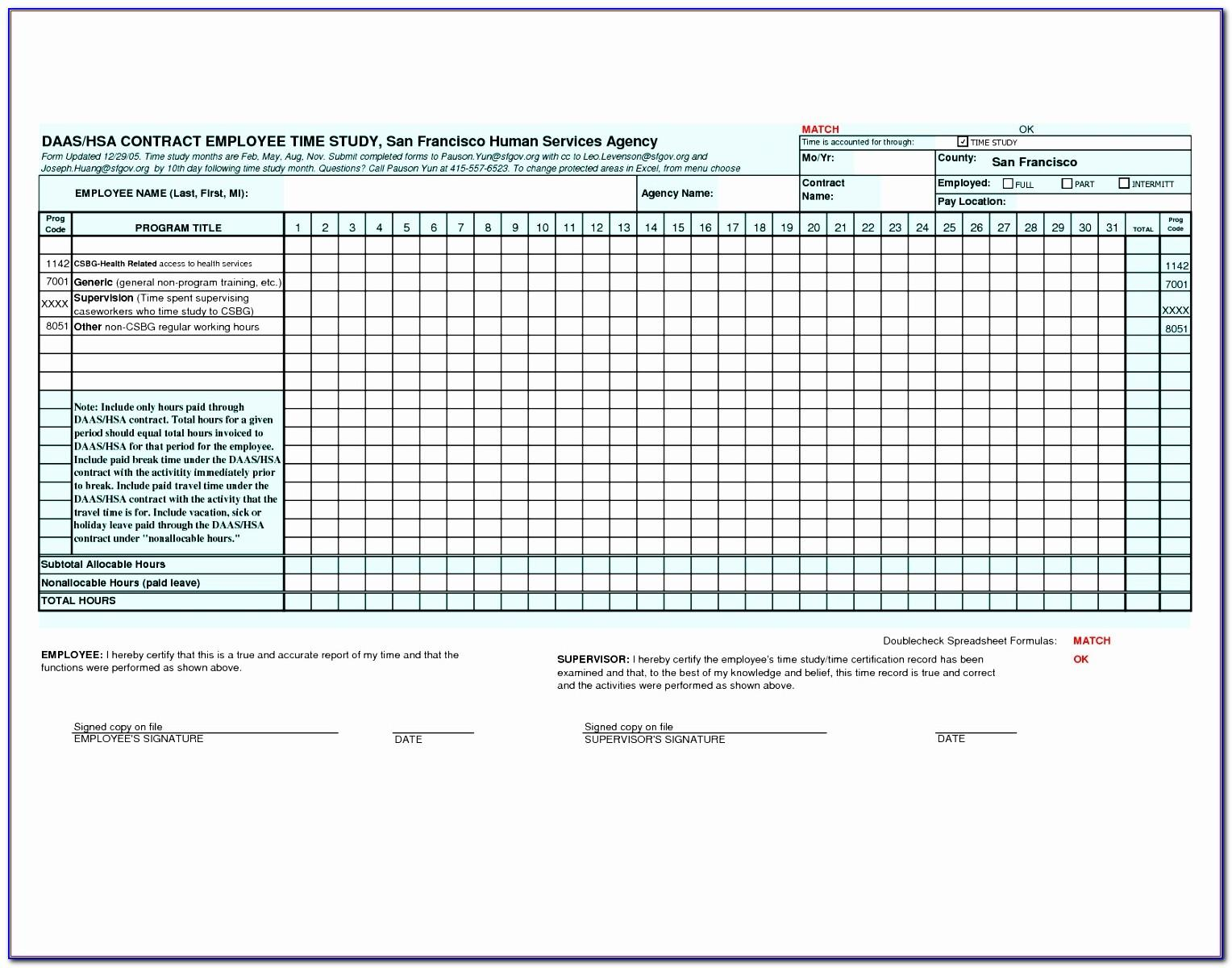Time And Material Invoice Template Excel